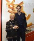 Fornitori ufficiali EA7 Olimpia Milano - La Sig.ra Anna Portinaro con Bruno Cerella