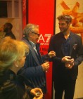 Fornitori ufficiali EA7 Olimpia Milano - La Sig.ra Anna Portinaro con il marito Carlo e Bruno Cerella